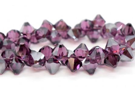 Amethyst Satin 6301 Swarovski Crystal Bicone Pendant