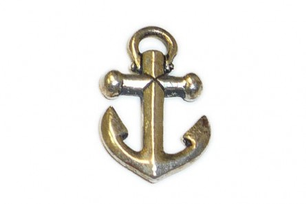 Anchor Pendant Charm by TierraCast®  - Antiqued Silver Plated Pewter