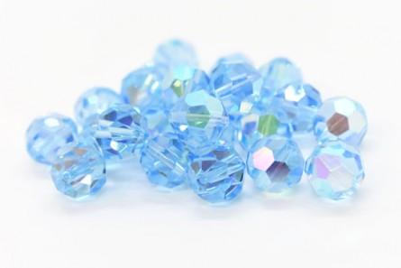 Aquamarine AB 5000 Swarovski Elements Crystal Round Bead