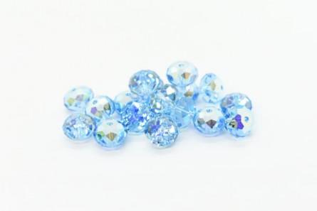 Aquamarine AB Swarovski Crystal Faceted Briolette Beads 5040