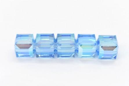 Aquamarine AB 5601 Swarovski Crystal Cube Bead