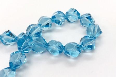Aquamarine Swarovski Crystal Faceted Helix Beads 5020