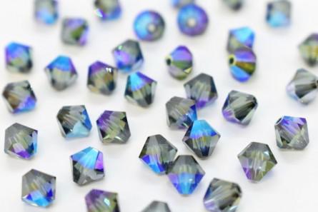 Aquamarine AB Satin Swarovski Crystal Bicone Beads 5301