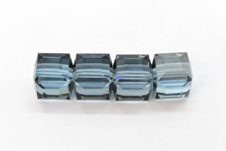 Aquamarine Satin 5601 Swarovski Elements Crystal Cube Beads