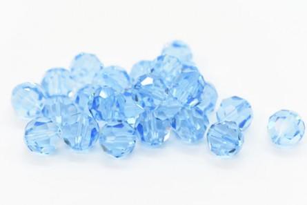 Aquamarine 5000 Swarovski Elements Crystal Round Beads