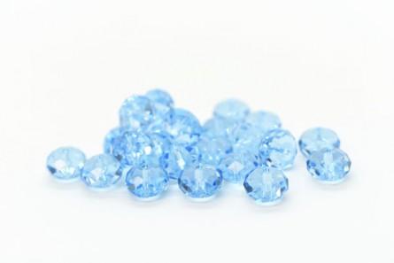 Aquamarine 5040 Swarovski Crystal Faceted Briolette (Rondelle ) Bead