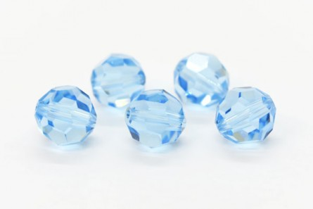 Aquamarine 5000 Swarovski Elements Crystal Round Bead