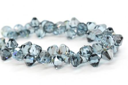 Aquamarine Satin 6301 Swarovski Crystal Bicone Pendant