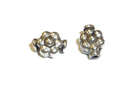 Sterling Silver Bali Style Flower Bead-7mm x 9mm BA 83