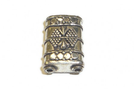 Sterling Silver Bali Style Double Hole Bead 13mm x 20mm BA 155