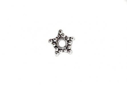 Sterling Silver Bali Style Star Spacer Bead 5mm - BA 21