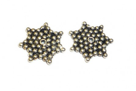 Sterling Silver Bali Style Star Spacer Bead 14mm - BA 159