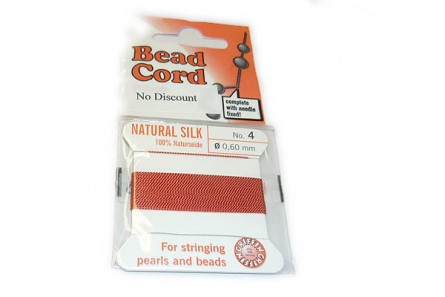 Griffin Coral Silk Bead Cord