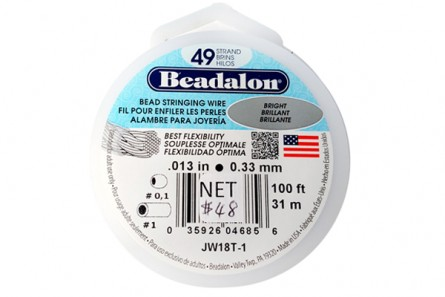 Beadalon® Bead Stringing Wire - 49 Strand - .013