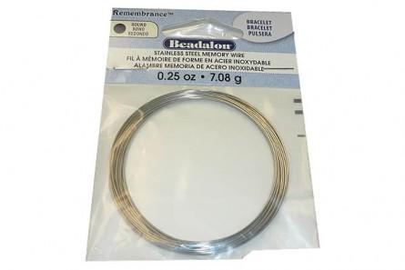 Beadalon Bracelet Remembrance Memory Wire - Round