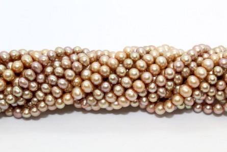 Potato Freshwater Pearls - Beige - A Grade - 5mm