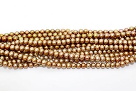Potato Freshwater Pearls, Beige Peacock, A Grade