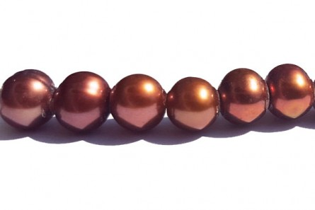 Big Hole Freshwater Pearls Potato, Copper