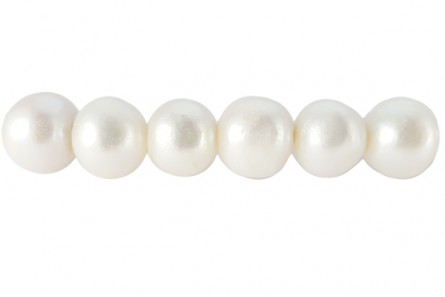 Big Hole Freshwater Pearls Potato, White, A Grade,3mm hole,8-8.5mm