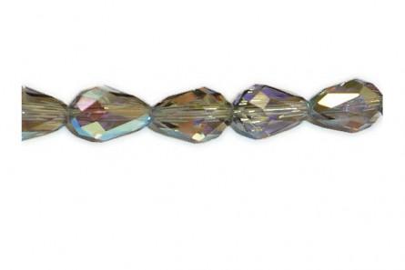 Bead, Black Diamond AB ,Swarovski Crystal, Faceted Crystal Teardrop (5500).