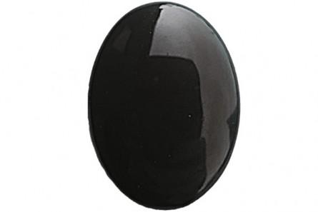 Black Onyx (Dyed ) A Grade Oval Cabochon