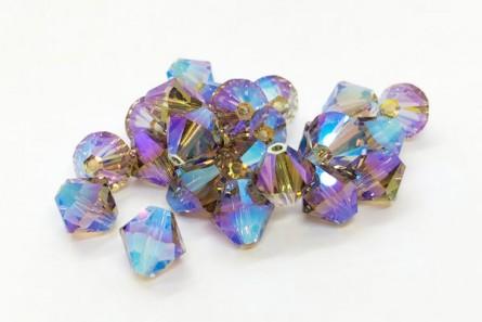 Black Diamond AB2x Swarovski Crystal Bicone Beads 5301/5328 - Factory Pack
