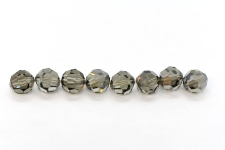 Black Diamond Satin Swarovski Crystal Round Beads 5000
