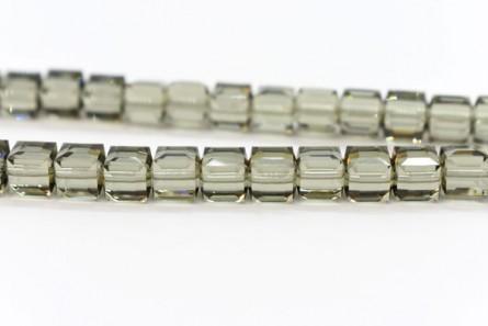 Black Diamond Swarovski Crystal Cube Beads 5601
