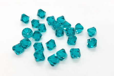 Blue Zircon Swarovski Crystal Bicone Beads 5301/5328