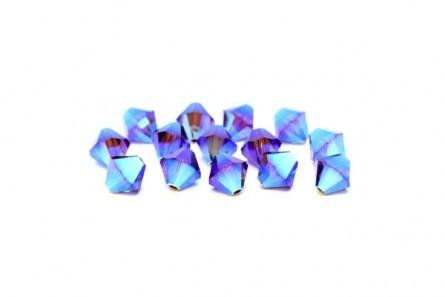 Burgundy AB2x Swarovski Crystal Bicone Beads 5301/5328