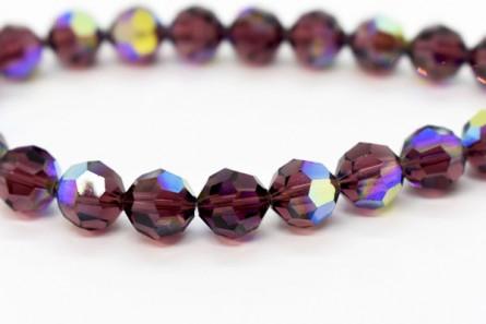 Burgundy AB Swarovski Crystal Round Beads 5000