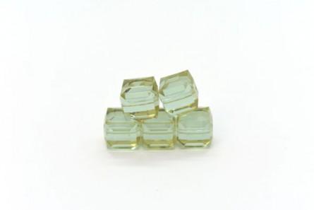 Cantaloupe Swarovski Crystal Cube Beads 5601