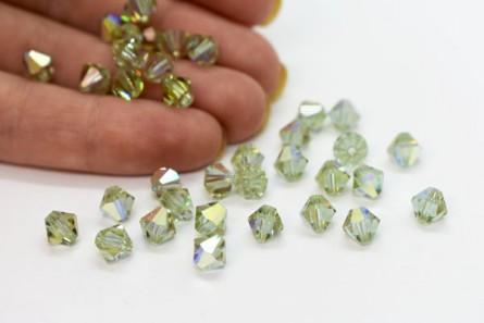 Cantaloupe AB Swarovski Crystal Bicone Beads 5301/5328