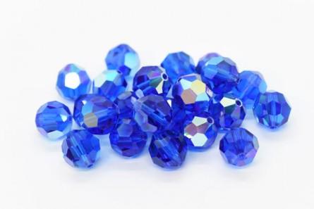 d3331be52 Swarovski Crystal Round Capri Blue AB   JBCBeads.com