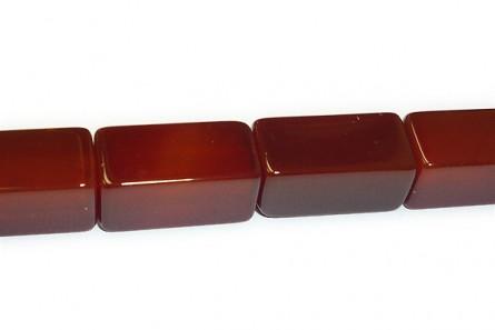 Carnelian, Dyed, Heated, A Grade Big Hole Rectangle Gemstone Beads
