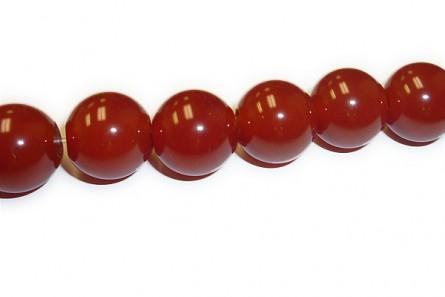 Carnelian (Dyed/Heated) A Grade Big Hole Round Gemstone Beads