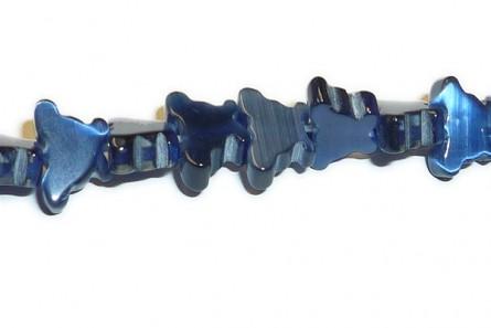 Dark Blue, Fiber Optic, Cat's Eye Glass, Butterfly Beads