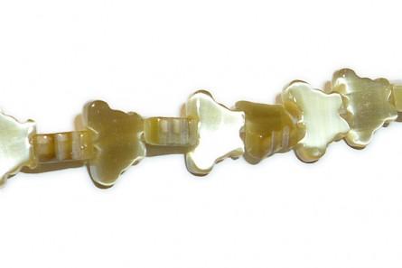 Golden Brown Fiber Optic (Cat's Eye) Glass Beads - Butterfly