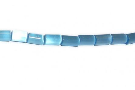 Light Blue Fiber Optic Glass (Cat's Eye) Tube Beads
