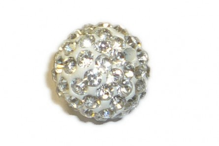 Crystal / White Chinese Crystal Pave Round Bead