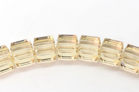 Ceylon Topaz Swarovski Crystal Cube Beads 5601 6mm - Sale