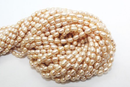 Rice Freshwater Pearls - Champagne