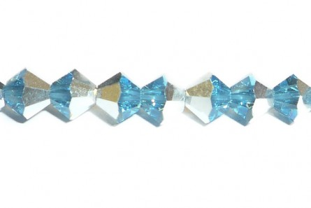 Aquamarine Comet Argent Light 5301 Swarovski Crystal Bicone Bead