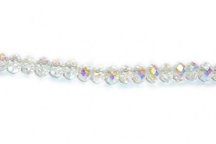 1d241144b Clear AB Chinese Crystal Rondelle Glass Beads | JBCBeads.com