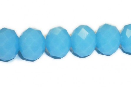 Blue (Light) Chinese Crystal Rondelle Glass Beads - opaque