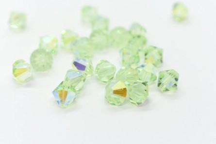Chrysolite AB Swarovski Crystal Bicone Beads 5301 - Factory Pack