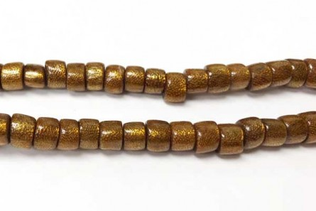 Coral ,Brown, Golden, Natural, Heishi, Tube Beads