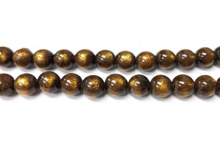 Coral , Brown, Golden, Natural, Round Beads