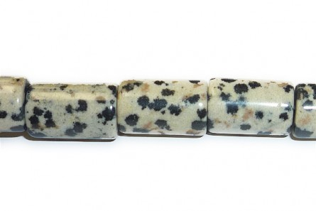 Dalmatian Jasper ( Natural ) A grade Big Hole Tube Gemstone Beads