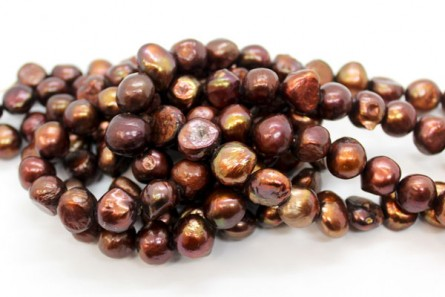 Irregular Potato Freshwater Pearls - Dark Copper - AB Grade